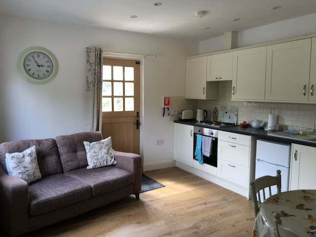 Self contained annexe double room kitchen & lounge - Great Sampford - Penzion (B&B)