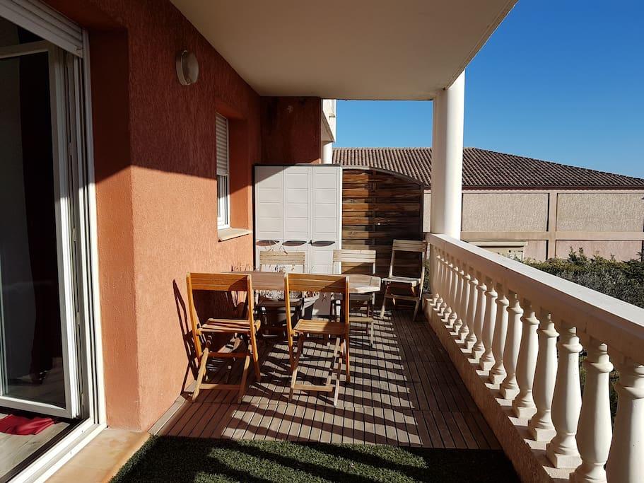 Terrasse 15m²
