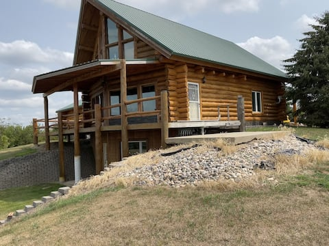 Log Home with Million-dollar view