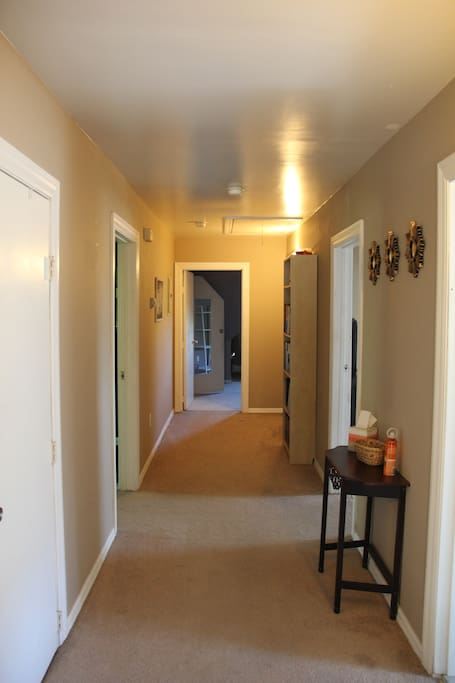 Hallway leading to two bedrooms and living room!!