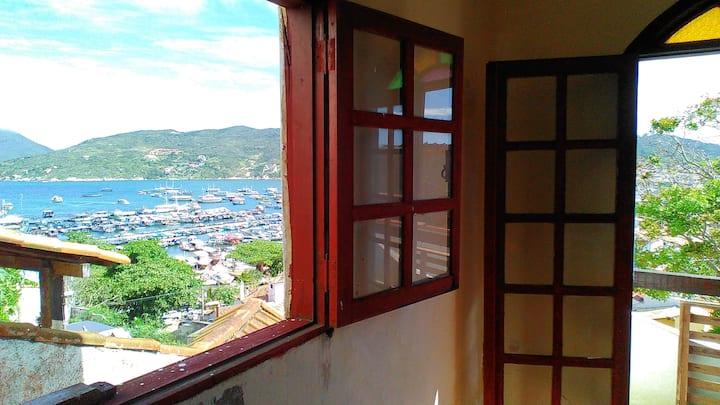 Arraial do Cabo, Albergue do Veleiro, mar à vista