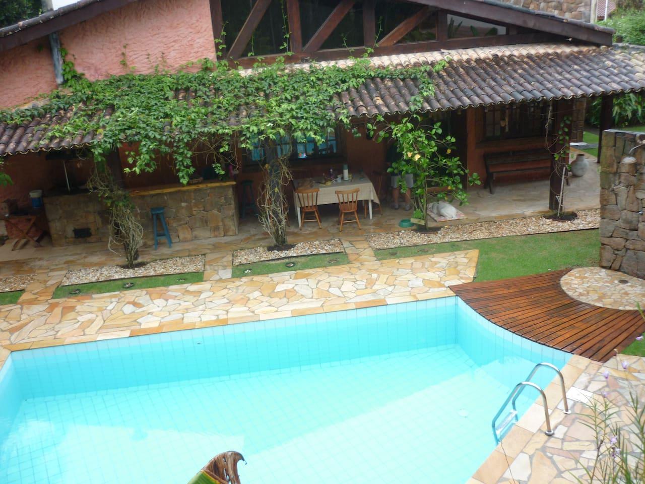 piscina e varanda