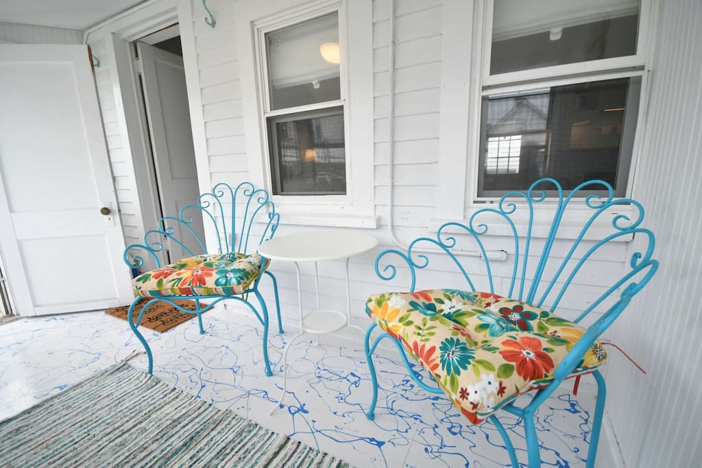 Sun porch - a breezy place to relax and chat with neighbors.