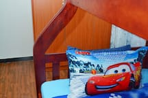 Bedroom 3: Adequate storage is available even for the kids!