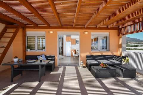 Moderne leilighet med 2 soverom og romslig balkong