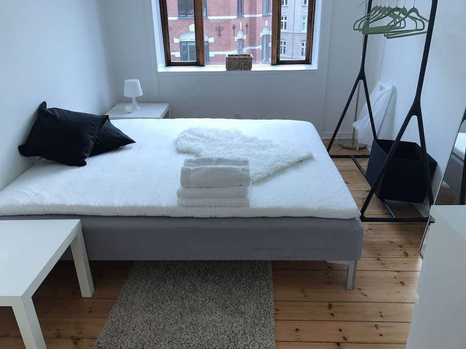 Bedroom with comfortable double bed. Sufficient space for two people