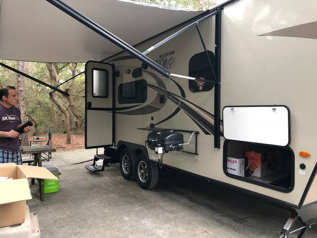 You can RV without purchasing an RV to camp !