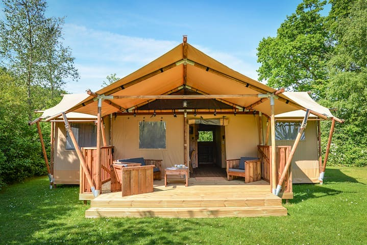 Luxe Glamping lodge in natuurreservaat
