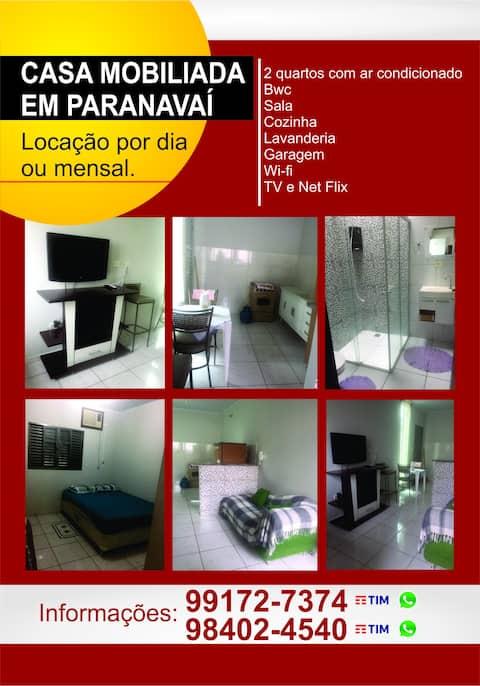 Casa 2 quartos com ar em Paranavai