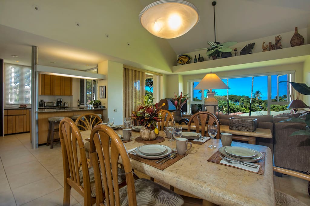 Open floor plan keeps the whole family together!