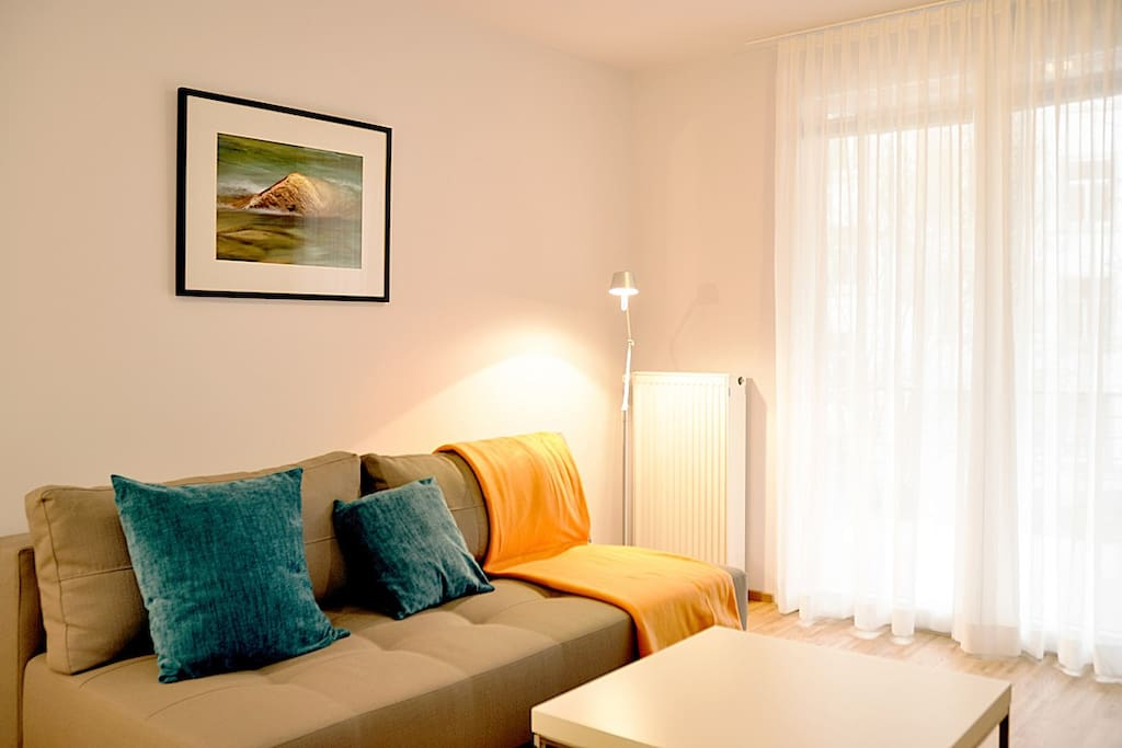 Wohnzimmer mit Schlafcouch