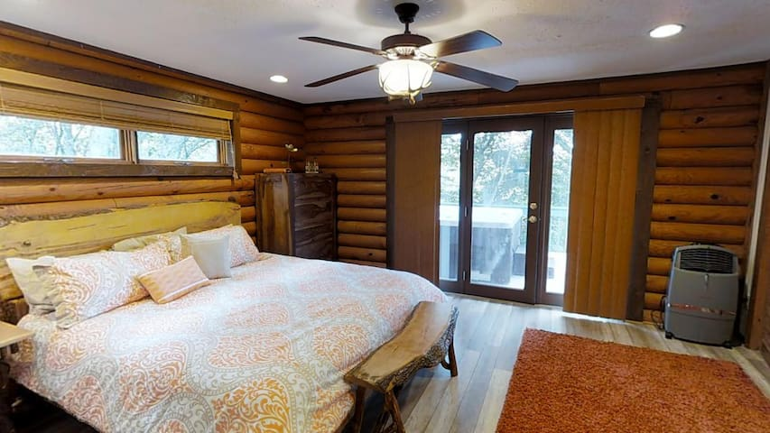 """Master Bedroom with King size bed and 42"""" TV"""