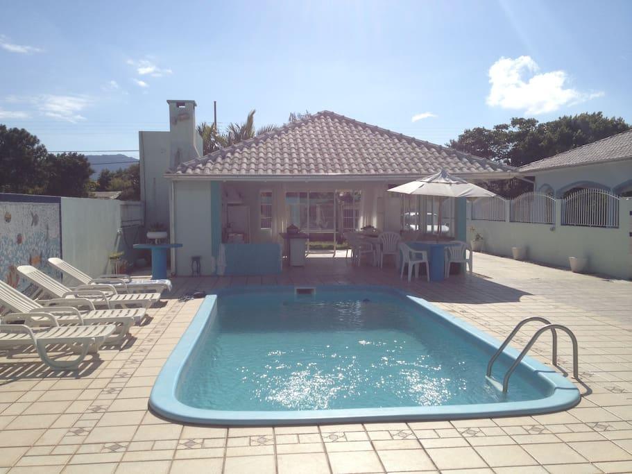 Área externa (piscina)