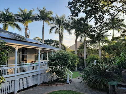 Charming wing of Pomona Queenslander with pool