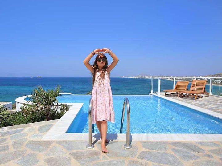 Villa 'Azure' private pool ...a sea-side diamond