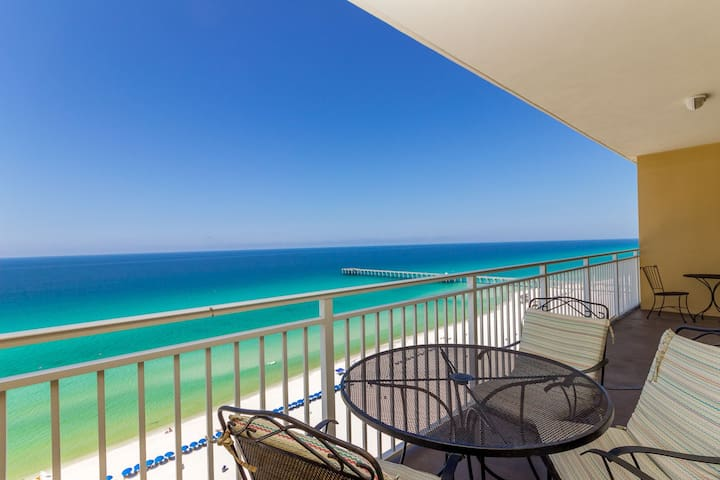New!  Sterling Reef 1202 Is A Spacious Condo Gulf Front And Sleeps 6.
