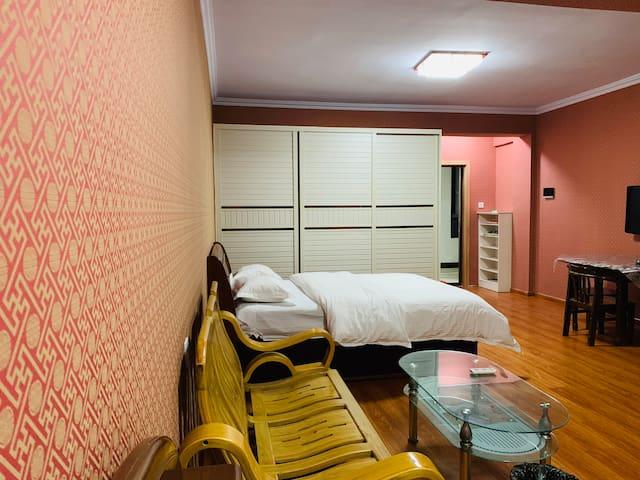 【木兮公寓】康桥桔子广场/家庭四人间/中式