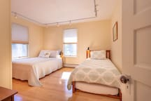 Bedroom #2 has a full size bed and a trundle bed with two twin size beds.