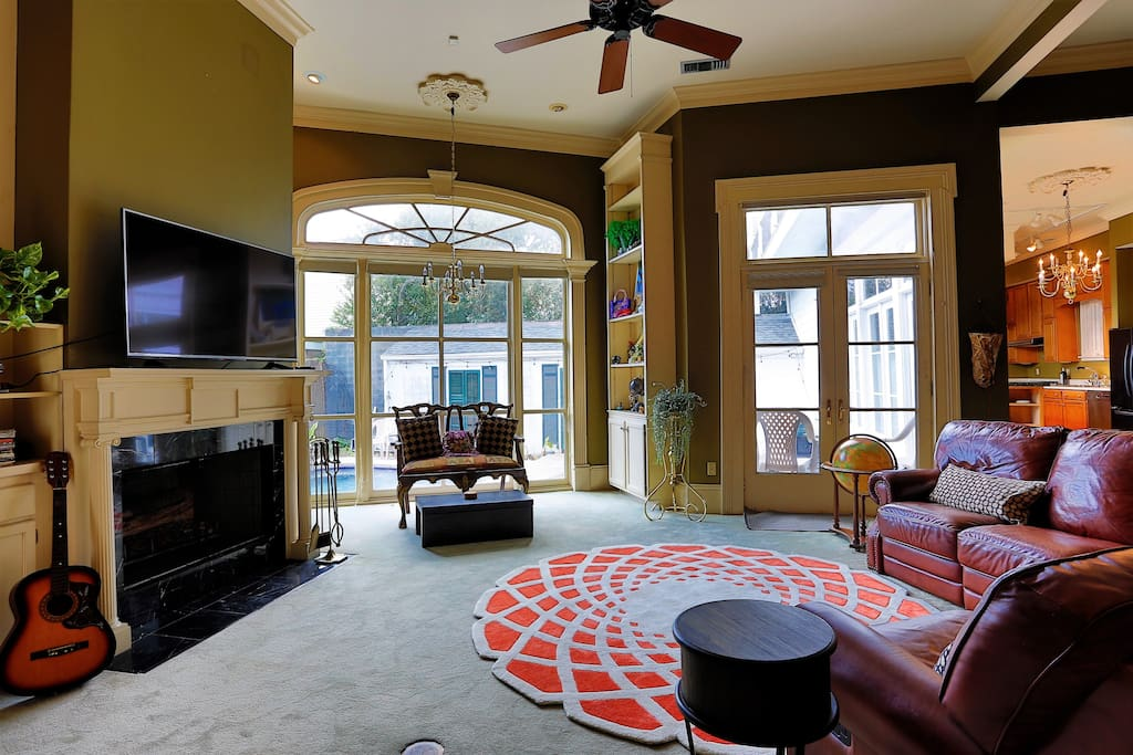 Main living room with smart TV