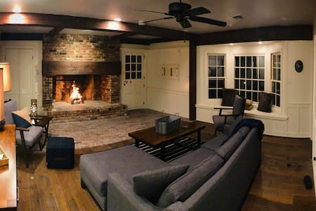 Relax by Large Fireplace with Premier Location