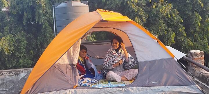 Camp on a Terrace in a farm in DLF Chattarpur Farm
