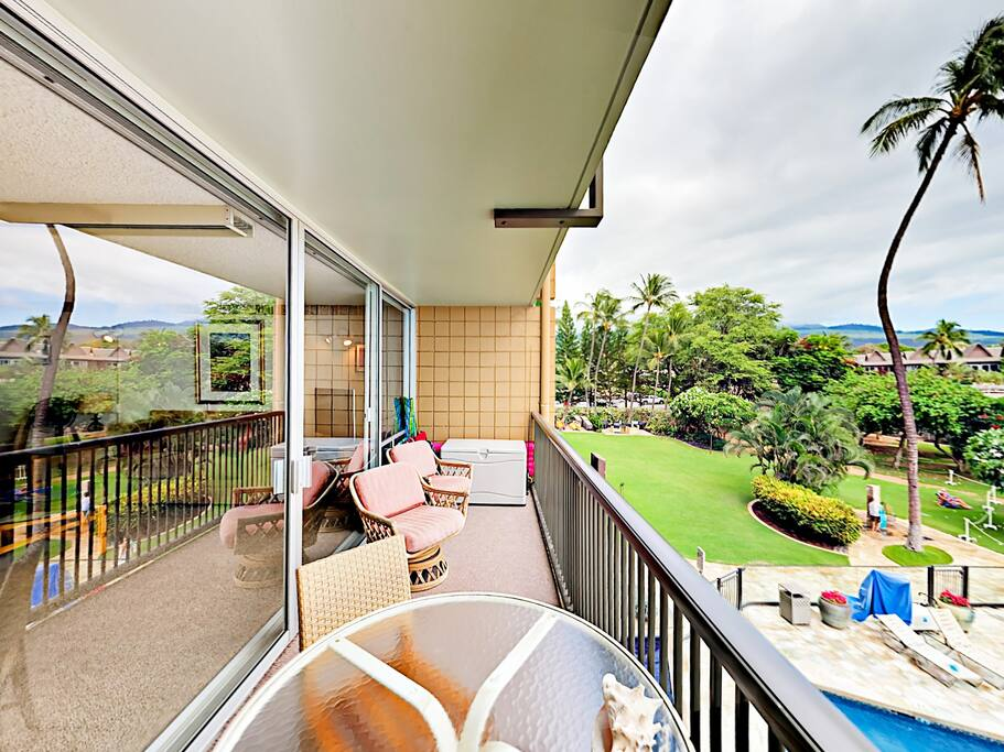 Step out onto the private lanai and enjoy the gentle trade winds.