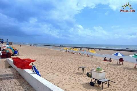 Apartamento beira mar na Praia do Meio