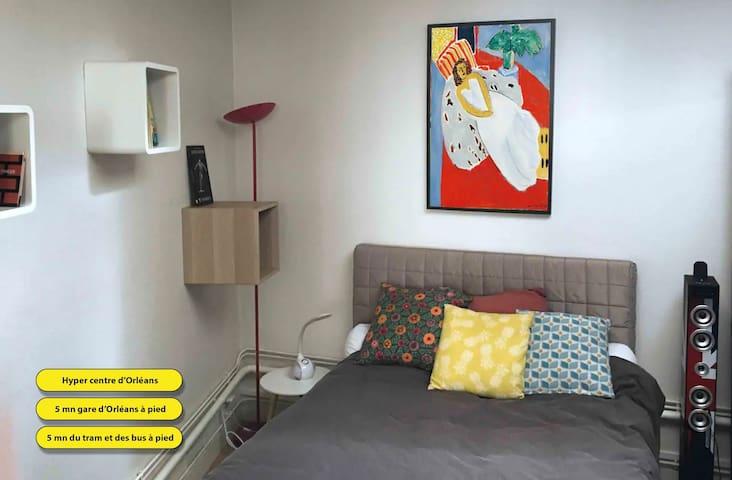 Chambre lit double - Hyper centre ville