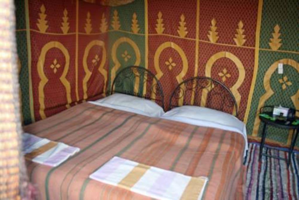 Comfortable tent in Sahara
