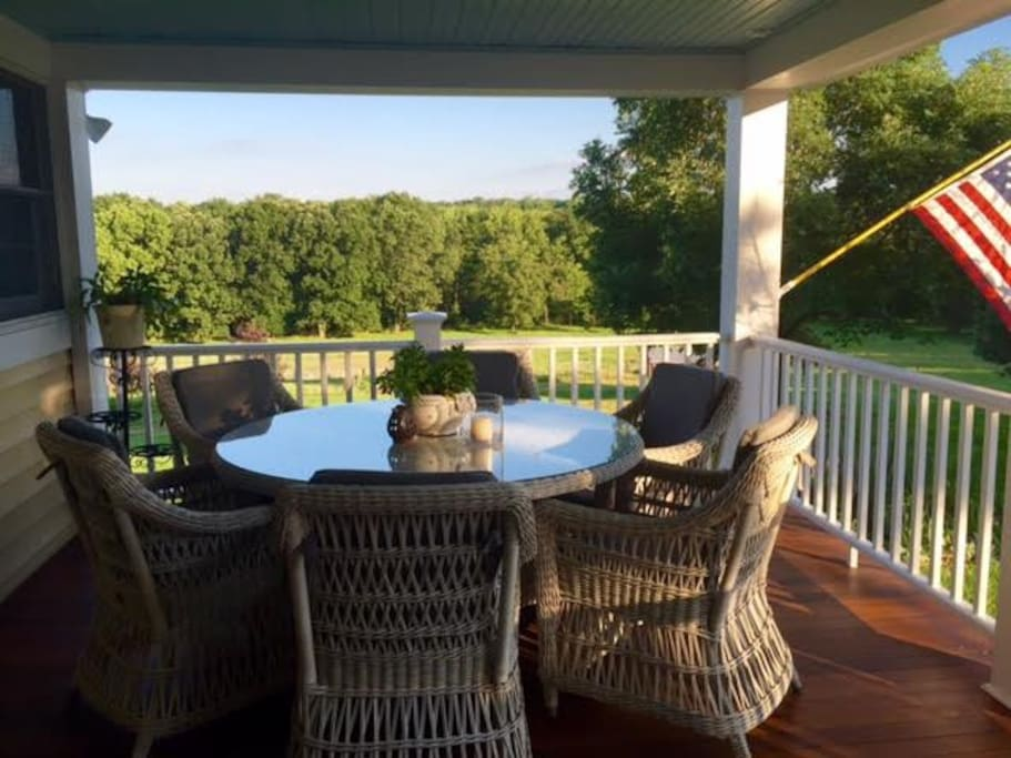 Peace and Quiet await you on our two beautiful porches