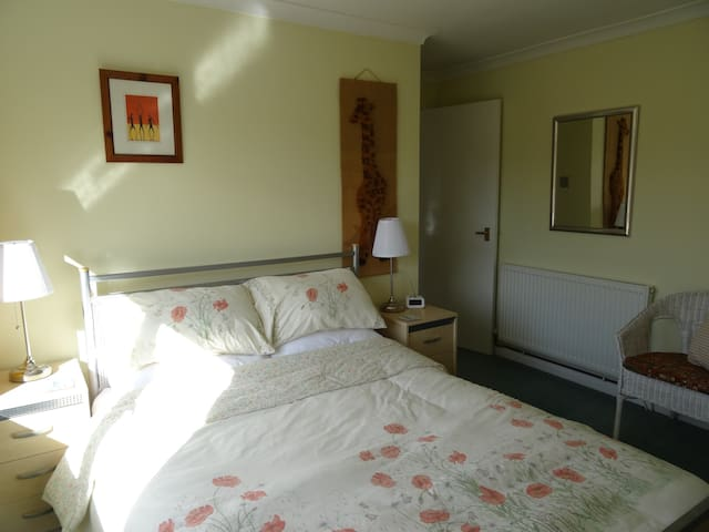Spacious and airy double room in quiet household
