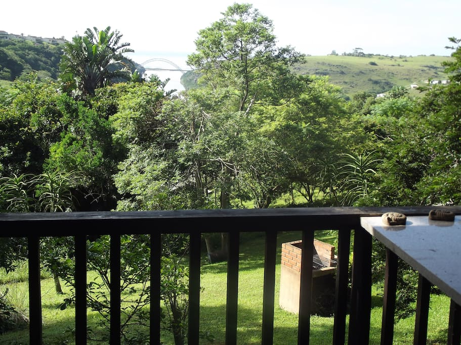 View from cottage verandah