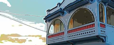 Terrace studio in historic house, downtown Naguabo