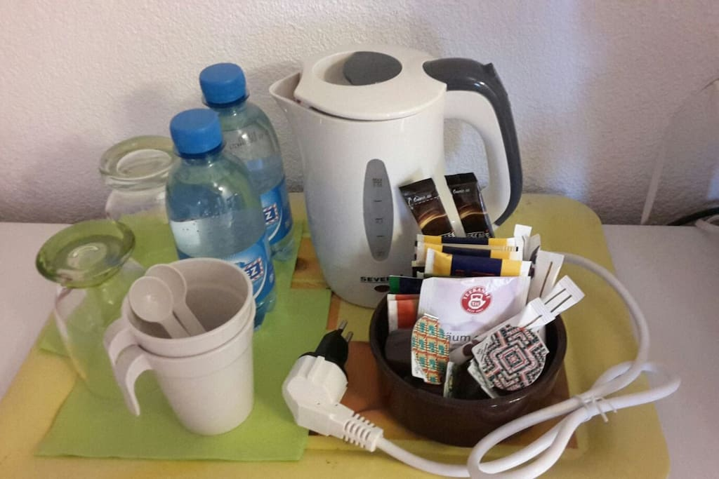 Coffee and tea making facilities in the room