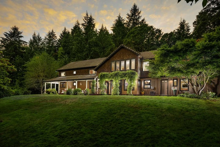 Private Estate Surrounded by Private Meadows, Forests, Trails, w/ Fire-Pit and Stocked Fishing Lake
