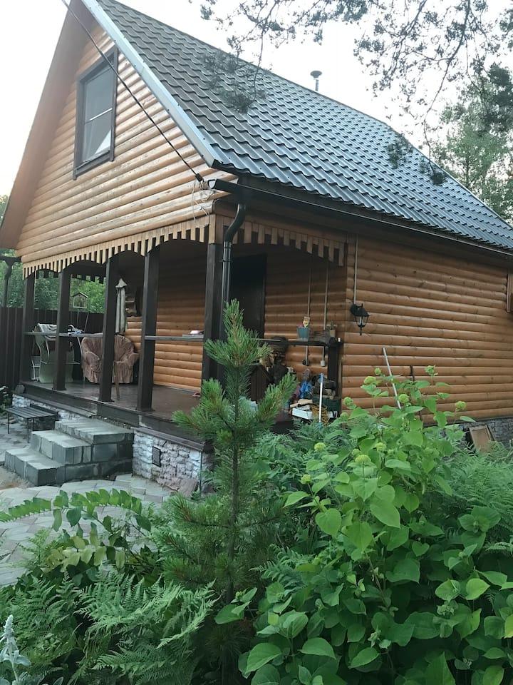 Дом-Баня в живописном районе