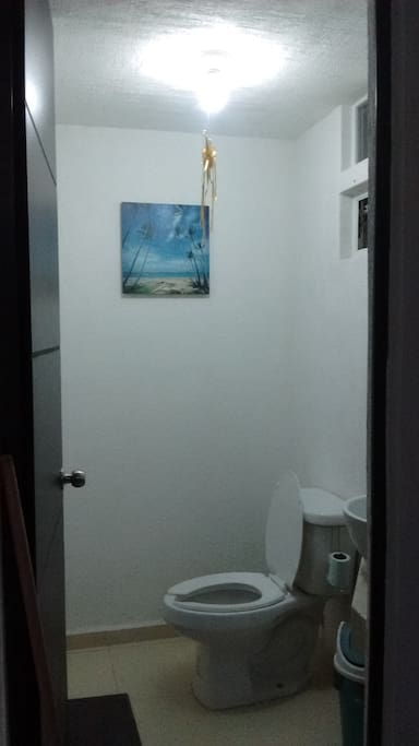 First floor half bath.
