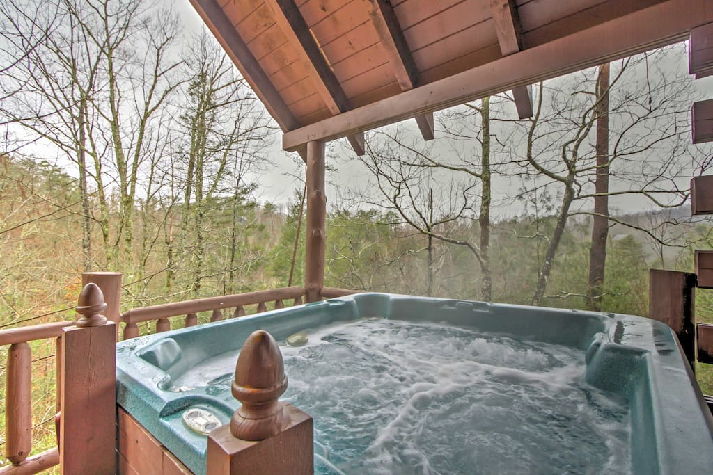 Look forward to unwinding in the hot tub with your loved ones.