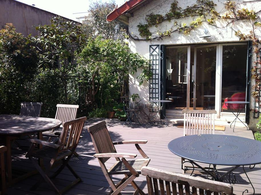 Maison de famille avec jardin 5mn de paris maisons - Table jardin soldee boulogne billancourt ...