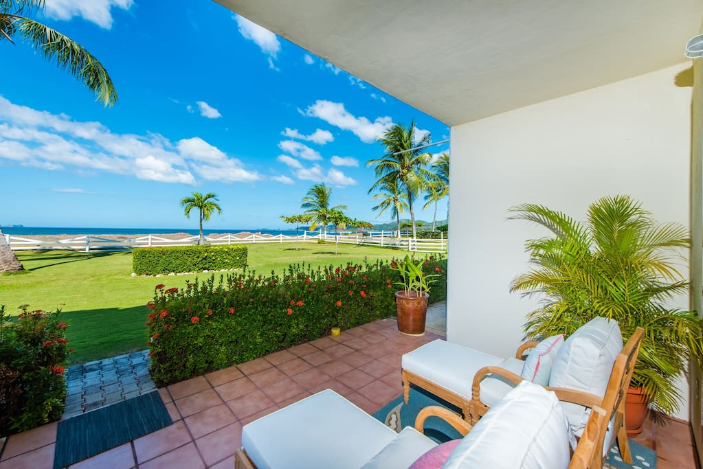 Enjoy the Terrace just a few meters from the beach!