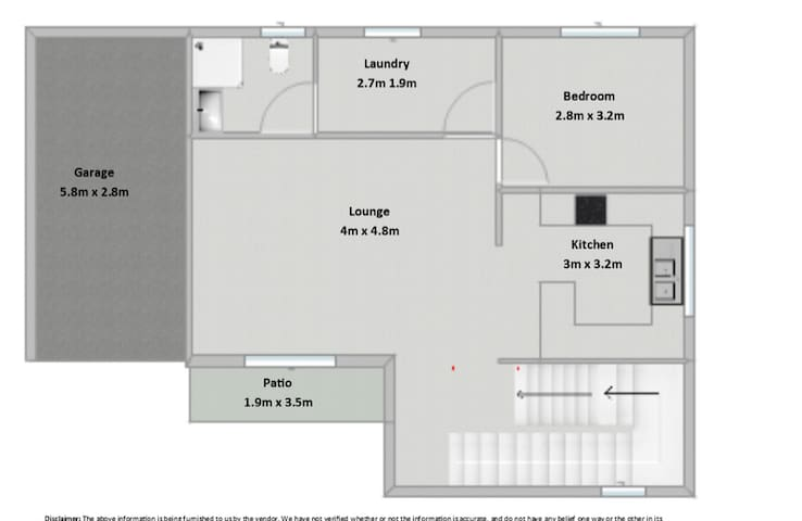 Layout of the House. Please note you have the entire house to yourself, this includes the upstairs verandah and daybed. We simply lock off the upstairs bedrooms to save on cleaning