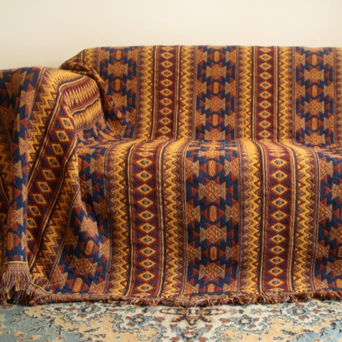 Couch in Terrace with Blackout Shades
