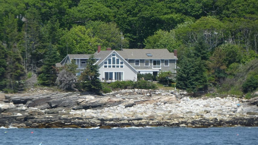 Salt Pond House On The Rocks with Crashing Surf