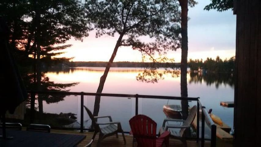 Views of the lake from front deck