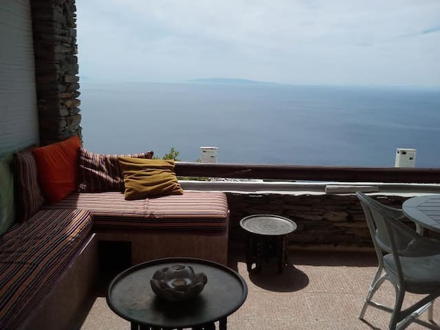 ANDROS Aprovato SuperSea View HOUSE +Pool  Sleep 4 - GR - House