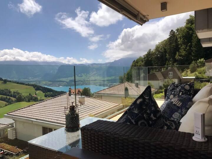 Stunning Swiss mountain and lake views!