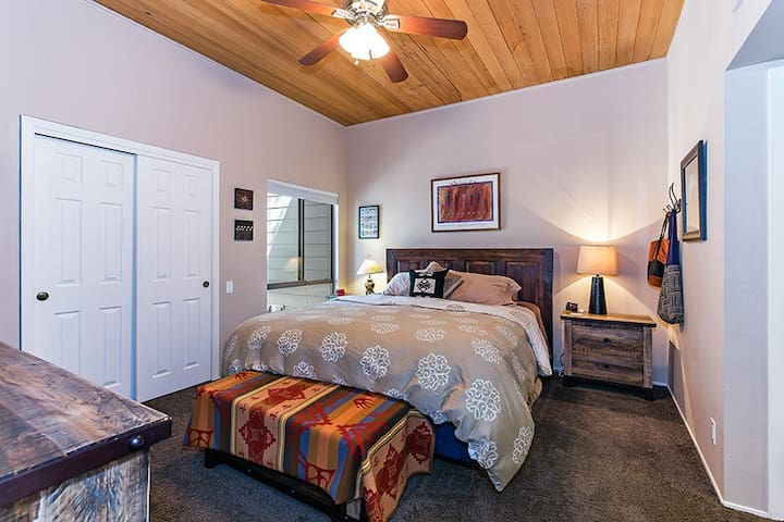 Cozy king bed in the master suite