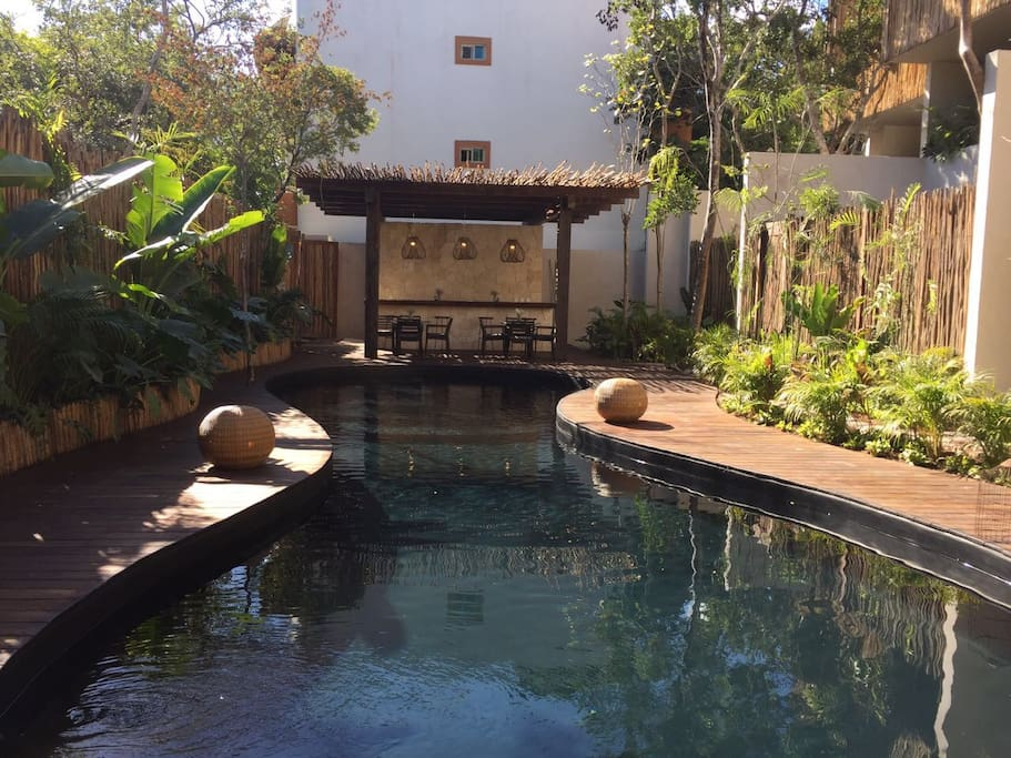 Relax in Artia cenote style pool