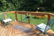overlooking deck