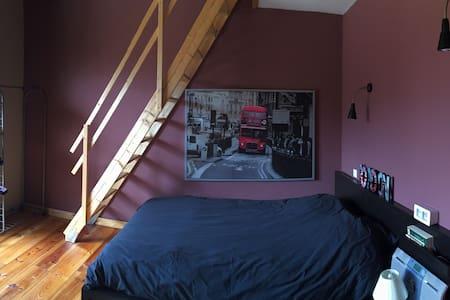 Chambre avec grand lit plein sud - Mirepoix - 단독주택